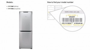 Electrical Fridge Freezer Fires Model Number