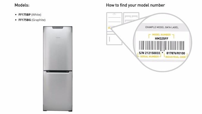 Electrical Fridge Freezer Fires Model Number
