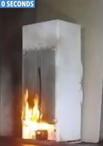 Electrical Fridge Freezer Fires 0 Seconds